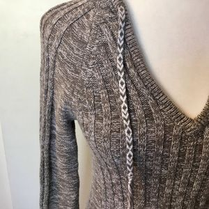 Roxy Sweaters - Roxy Ribbed Detail Hooded Sweater - S